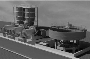 Ilustración de las tinas de contención para los molinos, a la izquierda, y el espesador, a la derecha. Las tinas de contención captan los fluidos en los diferentes tanques del proceso, ante una posible pérdida. Cortesía del autor.