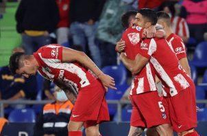 Luis Suárez anotó el gol de la victoria para el Atlético de Madrid. Foto: EFE