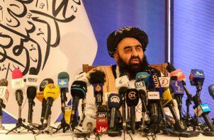 El ministro de Exteriores talibán, Amir Khan Muttaqi. Foto: EFE