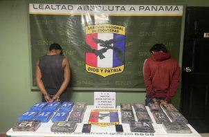 Los detenidos y las evidencias fueron puestos a órdenes de las autoridades competentes. Foto: Cortesía Senafront