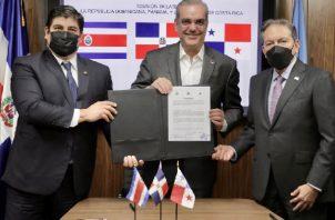 Laurentino Cortizo se reúne con sus pares de Panamá, Costa Rica y República Dominicana. Foto: Cortesía