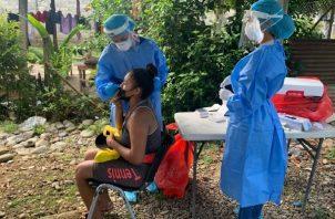 Los Equipos de Respuesta Rápida siguen en la búsqueda activa de casos en Bocas del Toro. Foto: Cortesía Minsa