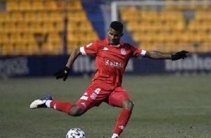 El internacional panameño solo ha disputado un partido de Liga hasta el momento. Foto Cortesía: @AD_Alcorcon