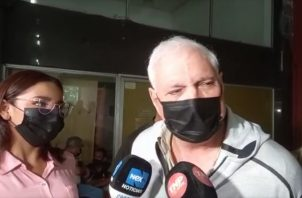 """El expresidente Ricardo Martinelli dijo hoy que el testigo protegido """"es un mentiroso patológico""""."""