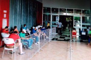 Ya se habilitó un punto fijo en las instalaciones del centro comercial Paseo Central. Foto: Thays Domínguez