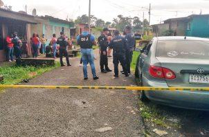 Al lugar llegó la Policía Nacional, quien procedió a acordonar toda la vía interna. Foto: Diomedes Sánchez
