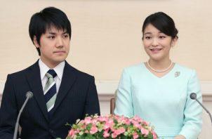 La princesa japonesa Mako y su prometido Kei Komuro. Foto: EFE