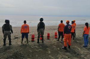 Alerta por mar de fondo para el Golfo y Bahía de Panamá, Sur de Veraguas, Los Santos y Golfo de Chiriquí. Cortesía: Sinaproc