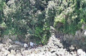 Todos los migrantes rescatados fueron trasladados al Centro de Salud de Jaqué en Darién para su debida atención médica. Foto: Cortesía de Senafront