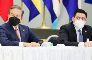 El presidente Laurentino Cortizo junto al vicepresidente José Gabriel Carizo. Foto: Cortesía