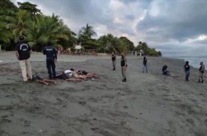 Las personas aprehendidas son de nacionalidad panameña y según las autoridades se dedicaban a actividades ilícitas. Foto: Mayra Madrid