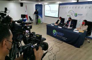 La Autoridad Nacional de los Servicios Públicos (Asep) hizo el anuncio hoy en conferencia de prensa. Foto: Cortesía Asep