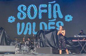 Sofía Valdés en una de las tarimas de Austin City Limits. Foto: Instagram