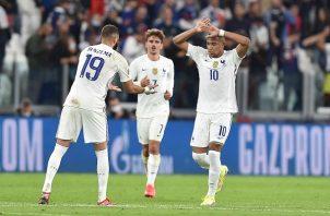Francia enfrentará en la final de la Liga de Naciones de la Uefa a la selección de España el próximo domingo. Foto: EFE