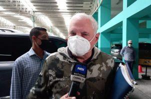 El exmandatario Ricardo Martinelli a su llegada hoy al Sistema Penal Acusatorio de Plaza Ágora. Foto: Víctor Arosemena