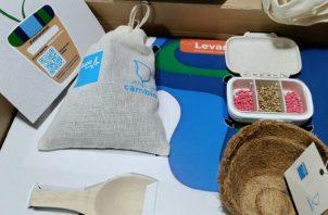 Contenido de los 'kits' de siembra. Foto: Cortesía