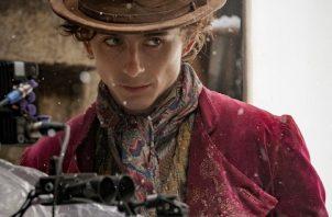 Timothée Chalamet interpretando a Willy Wonka. Foto: Instagram