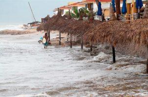 El ciclón Pamela, tocó tierra este miércoles como huracán categoría 1 en la escala Saffir-Simpson. Foto: EFE