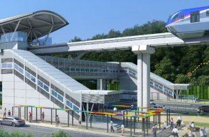 Esta estación contará con dos ascensos, urbanismo, intercambiador modal y estacionamientos. Foto: Cortesía