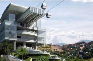 Concepto de lo que será el diseño de una de las estaciones del metrocable que estaría ubicada en el sector de Torrijos-Carter. Foto: Archivo