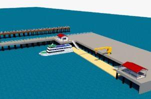 Muelle de Puerto Armuelle tendrá que esperar. Foto: Cortesía AMP