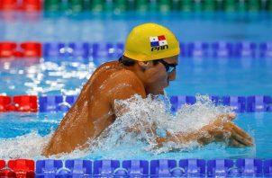 Bernhard Tyler Christianson de Panamá compite en los 200m braza masculino de natación por los Juegos Olímpicos 2020. Foto: EFE