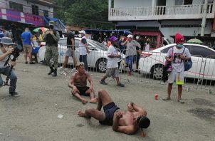 Más de 400 agentes de la Policía Nacional fueron apostados en Portobelo. Foto: Diómedes Sánchez