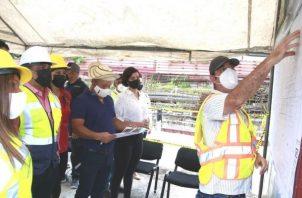 Inspección de la construcción del Centro de Salud de Las Mañanitas. Foto: Cortesía