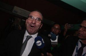 Rolando López, exjefe del Consejo de Seguridad Nacional, no fue llamado como testigo en este segundo juicio por los supuestos pinchazos telefónicos. Víctor Arosemena