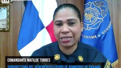 Matilde Torres, primer mujer en alto cargo en el Cuerpo de Bomberos de Panamá.