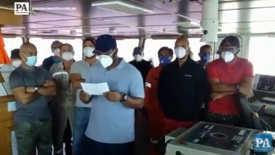Tripulantes panameños.