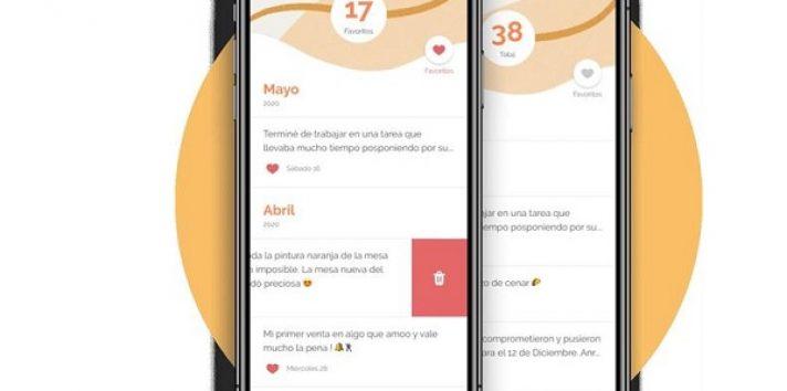 """Sección de favoritos de su aplicación Yana, diseñada para ayudar """"a mejorar el estado emocional"""" Foto: EFE"""