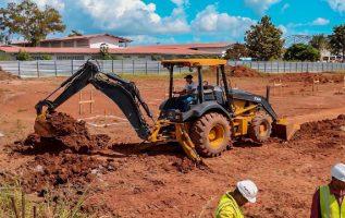 El terreno está ubicado detrás del IPT Don Bosco y ya hay maquinaria. Foto: Cortesía